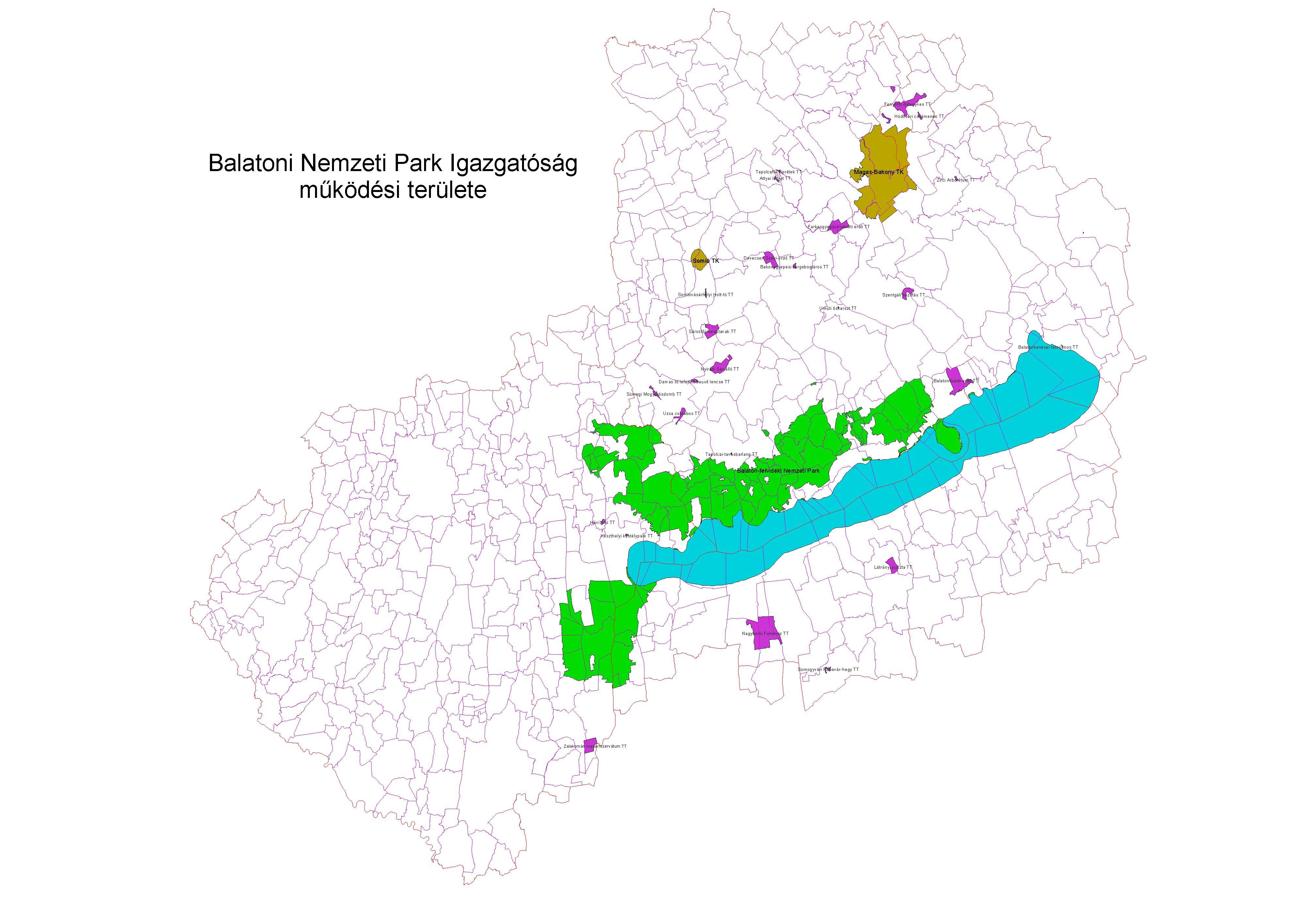 balaton felvidéki nemzeti park térkép Balaton felvidéki Nemzeti Park Igazgatóság 2009 ig balaton felvidéki nemzeti park térkép